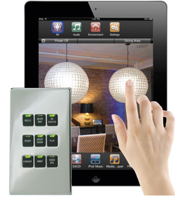 LiteTouch Savant Light Control With Dedicated Controller Or IPad Remote Glo