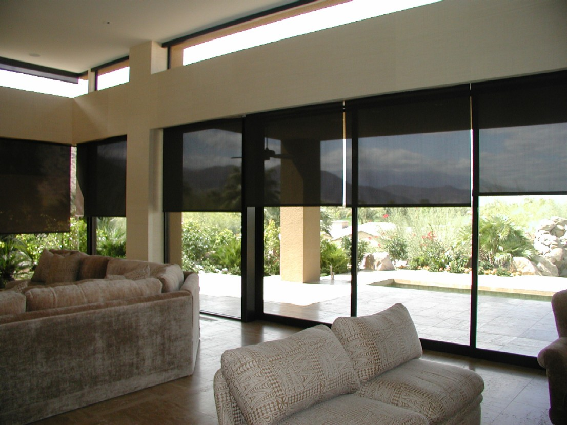Motorized Sun Screen Roller Shades Global Home Automation