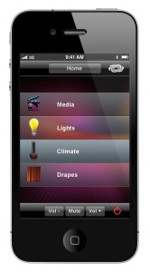 iPhone Drape Climate and Light Control Interface